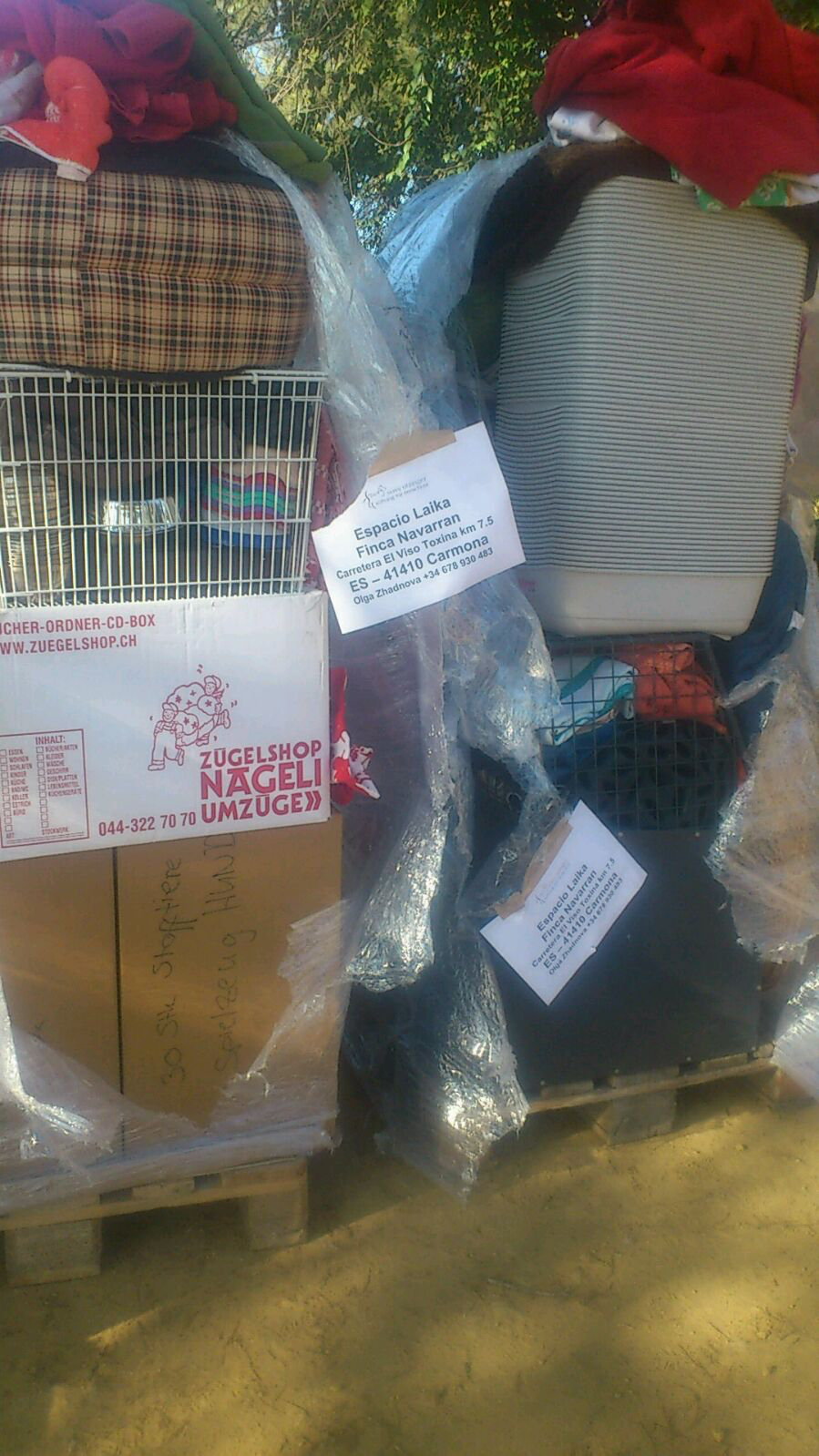 Your donations are well being received: Material delivery to Spain